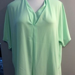 Lime Short Sleeve V-Neck Shirt